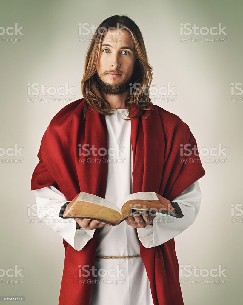 He practiced what he preached stock photo