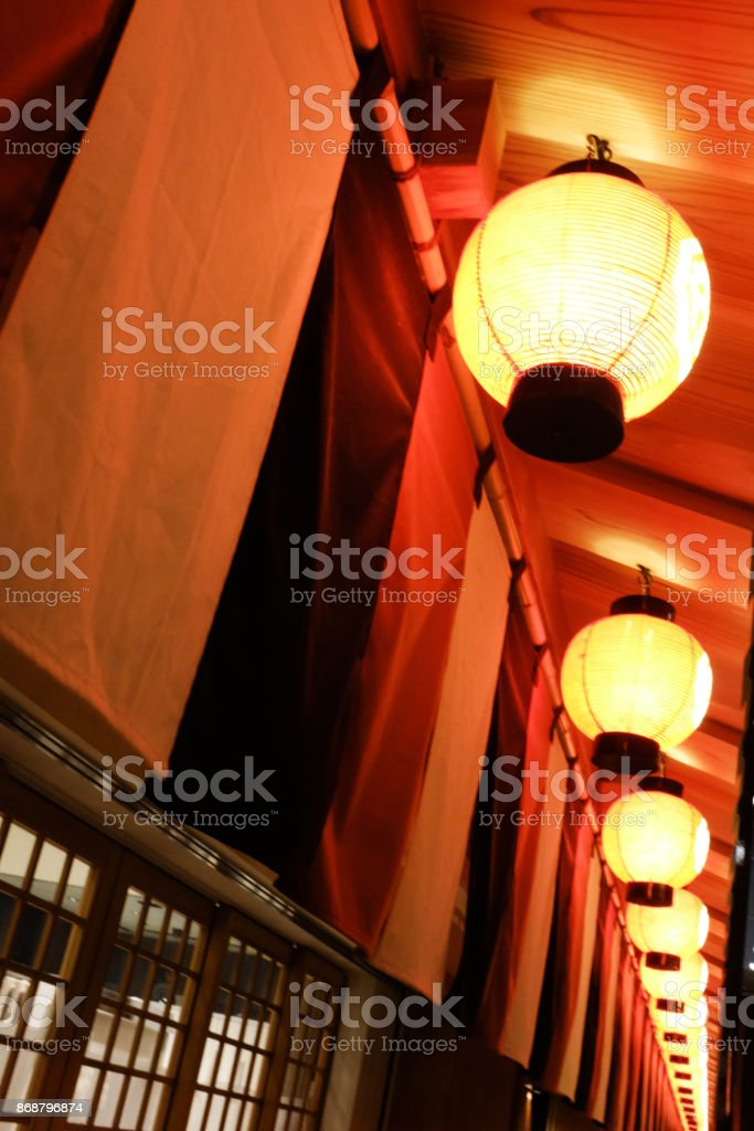 He Red Light Decoration In Front Of Japanese Restaurant Stock Photo Download Image Now Istock