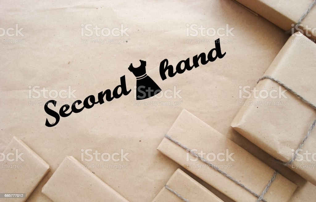 he Secondhand clothes royalty-free stock photo