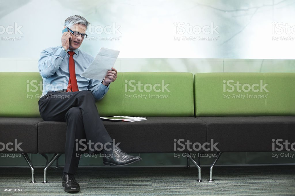 He stays one step ahead of the competition stock photo
