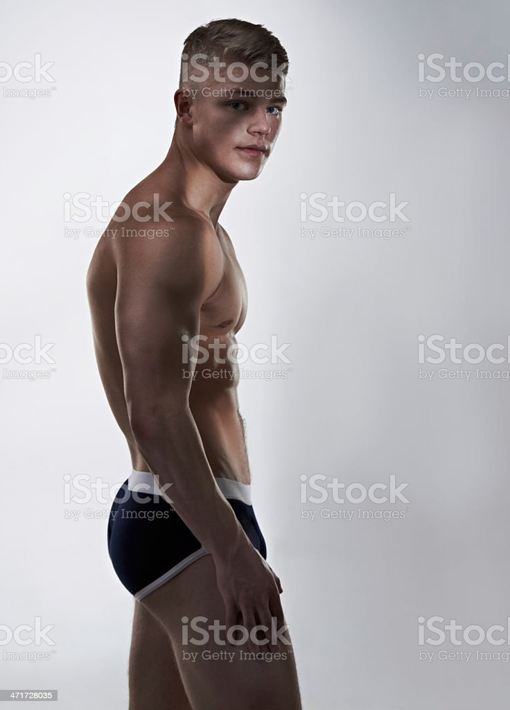 He takes care of his body royalty-free stock photo