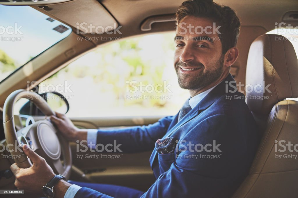 He takes confidence with him wherever he goes stock photo