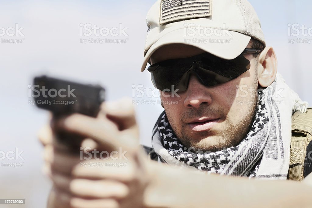 He takes his training seriously stock photo