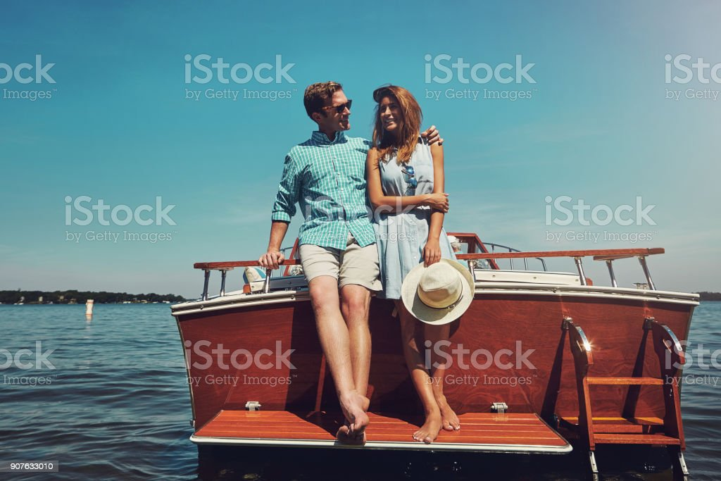 He took her on a date she'd never forget stock photo