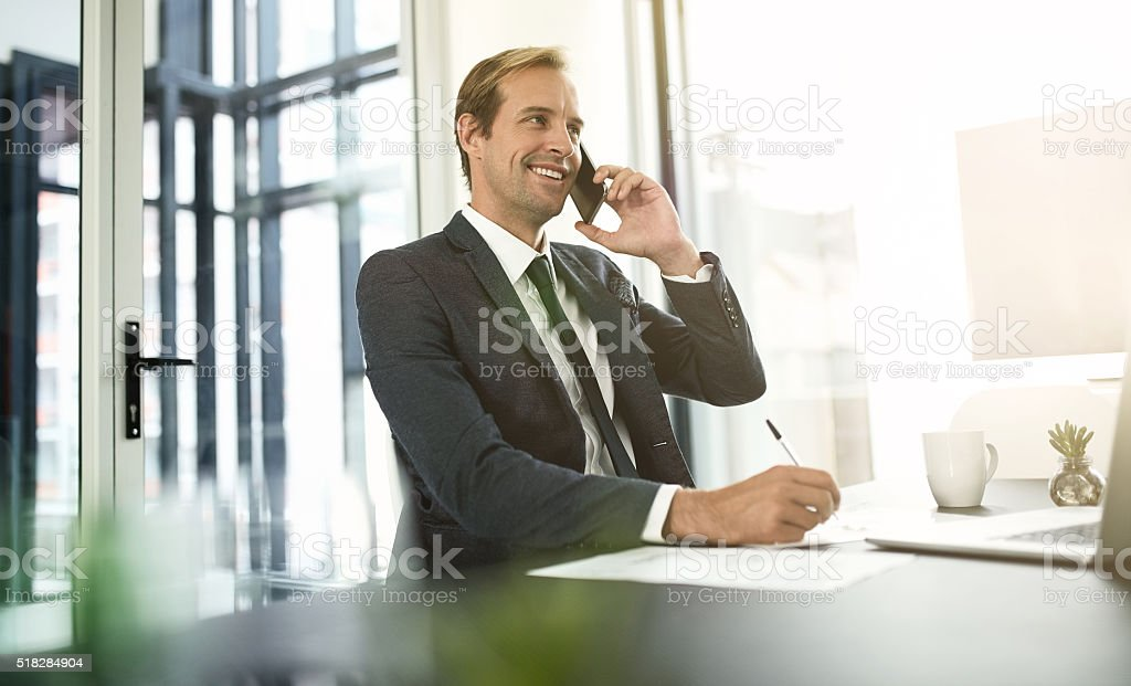 He treats all his clients like valued partners stock photo