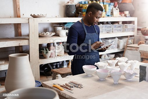 istock He turns a job to do into a job well done 496553068