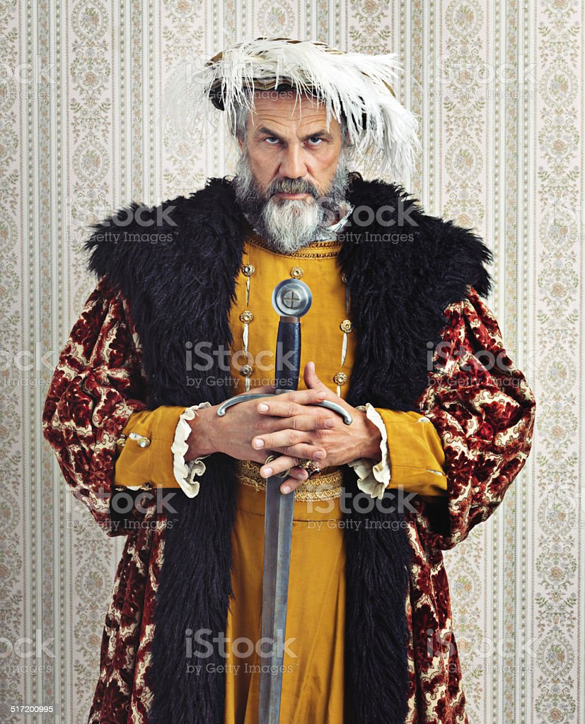 He who holds the sword... stock photo