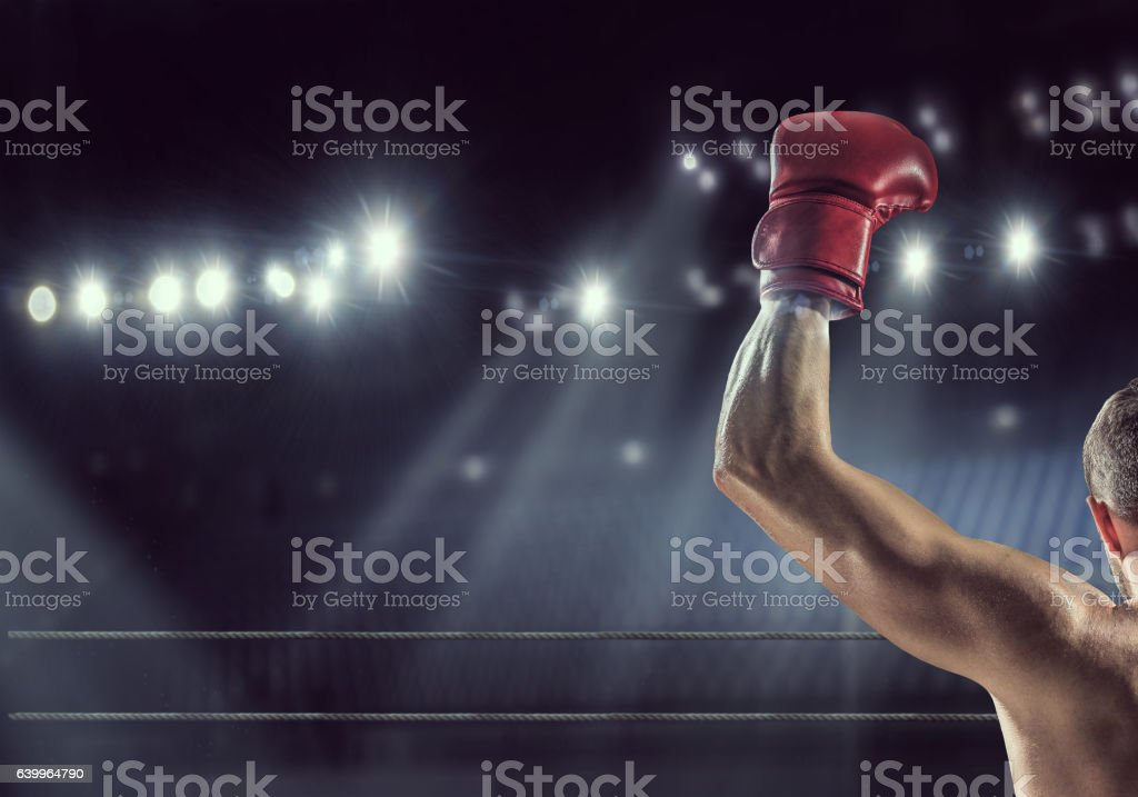 He will be a champion . Mixed media stock photo