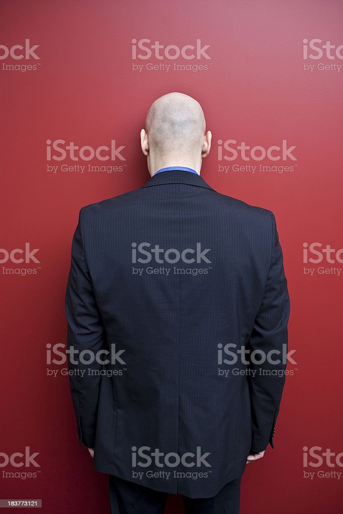 Head Against the Wall stock photo