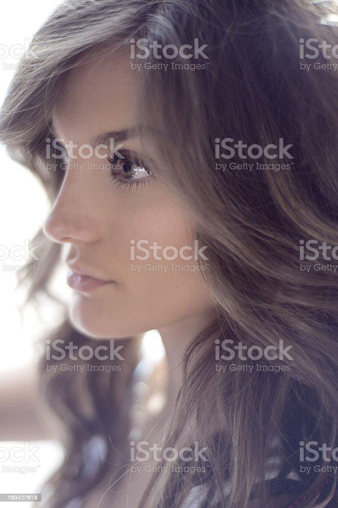 Head and Shoulder Beauty Portrait stock photo