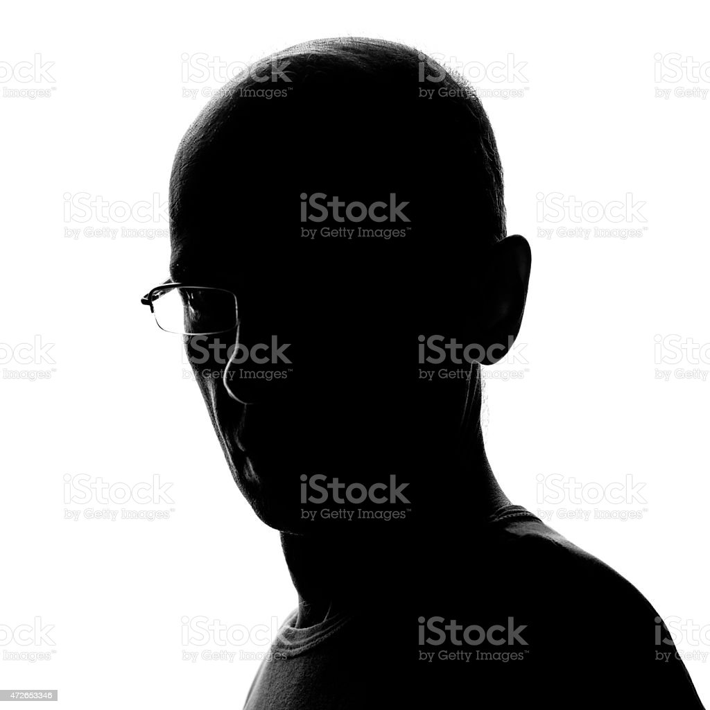 Head and Shoulders Man's Silhouette stock photo