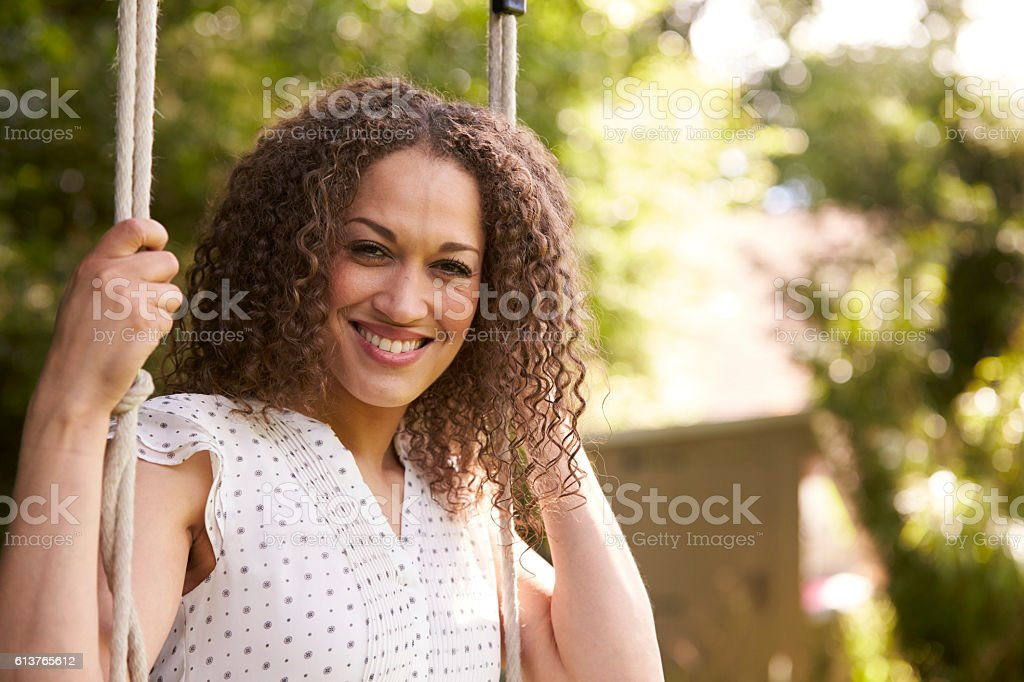 Head And Shoulders Shot Of Mid Adult Woman Sitting - Royalty-free 30-39 Years Stock Photo