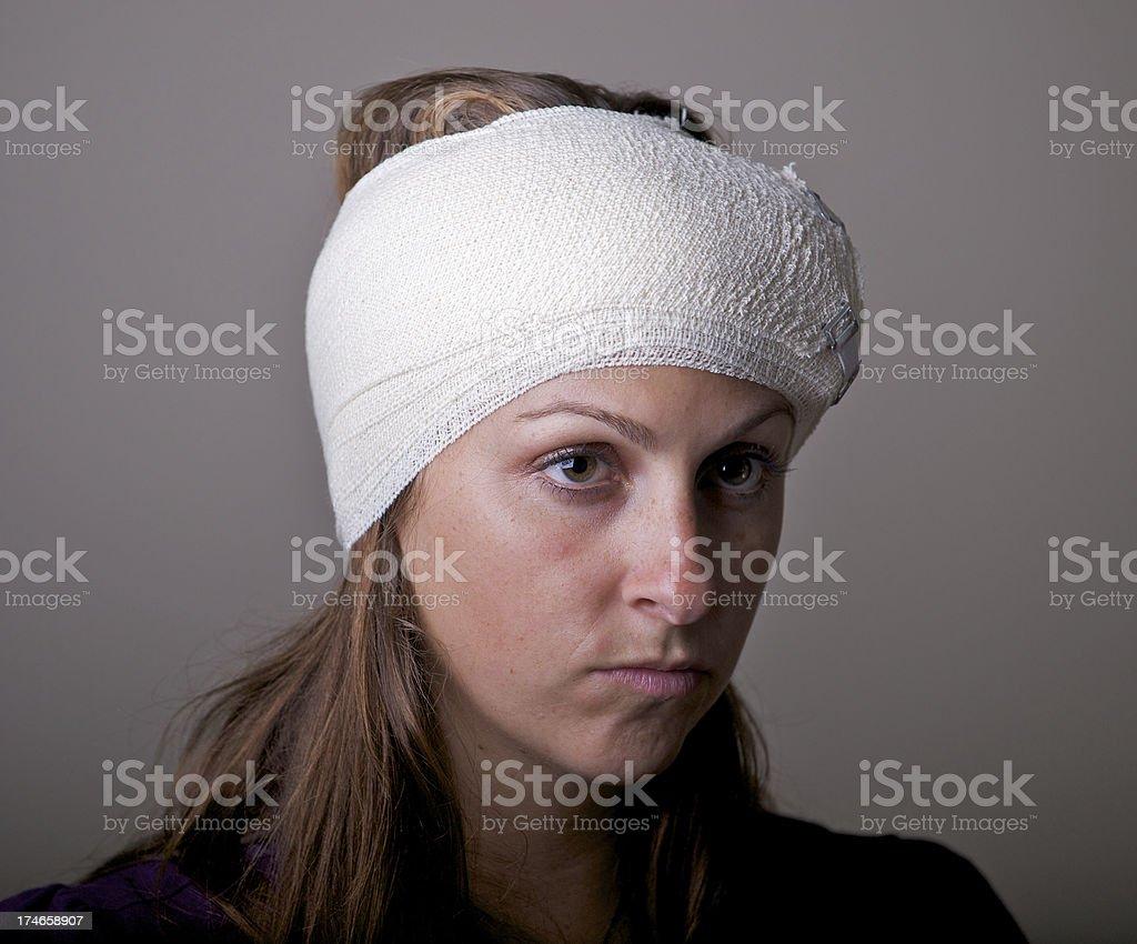 Head bandage stock photo