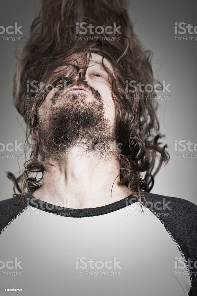 Head Banger In Action stock photo