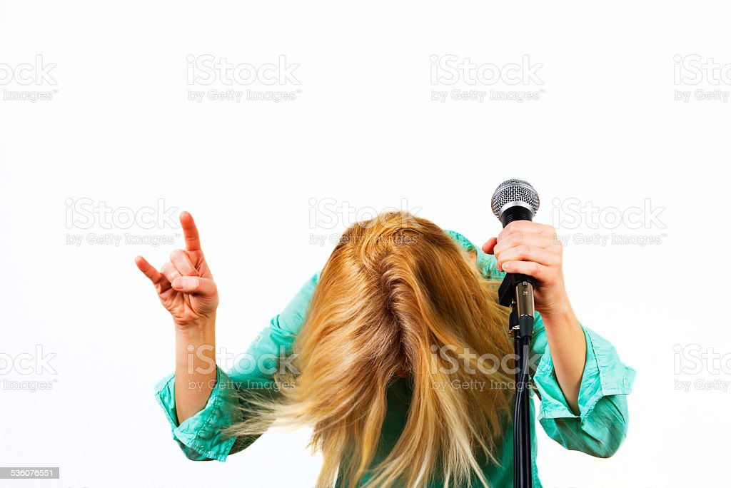 head banging stock photo