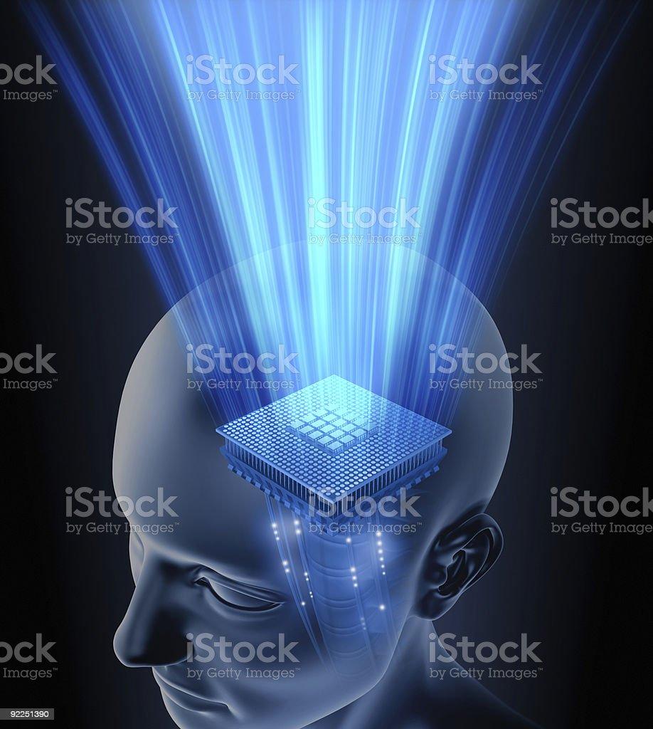 Testa cervello processore - foto stock