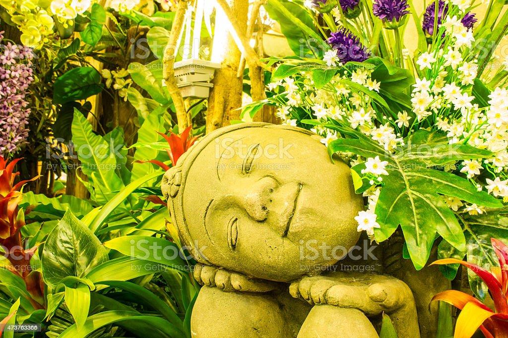 Head Buddha statue stock photo