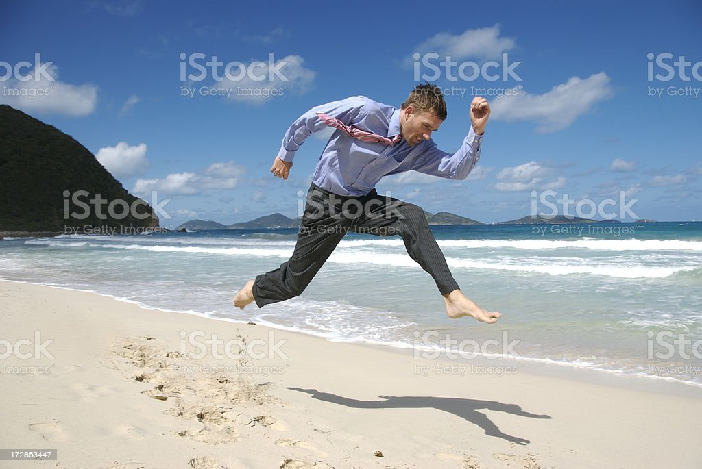 Head Down High Jump royalty-free stock photo