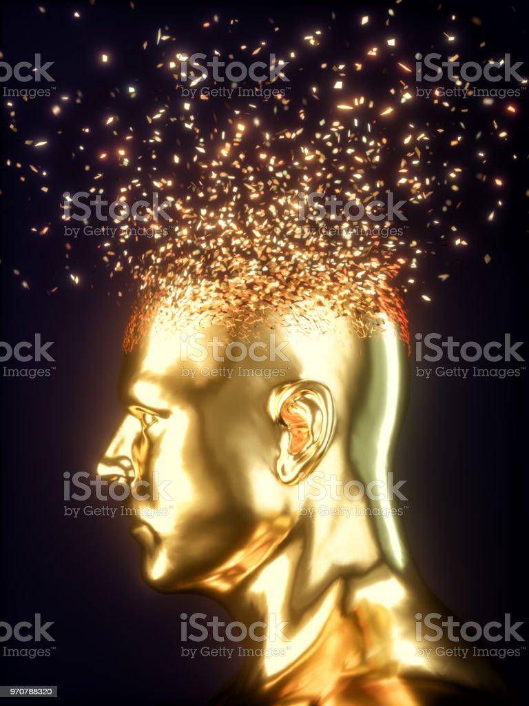 Head Explosion Concept stock photo