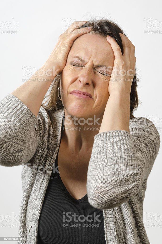 Head full of pain royalty-free stock photo