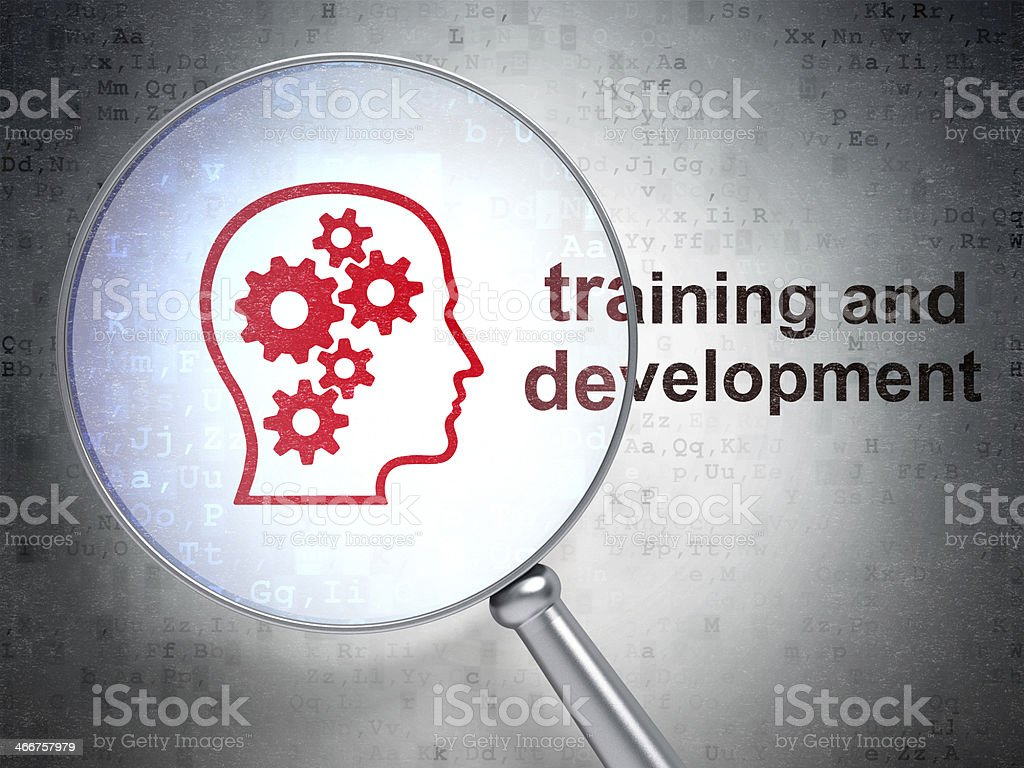 Head Gears and Training Development with optical glass stock photo