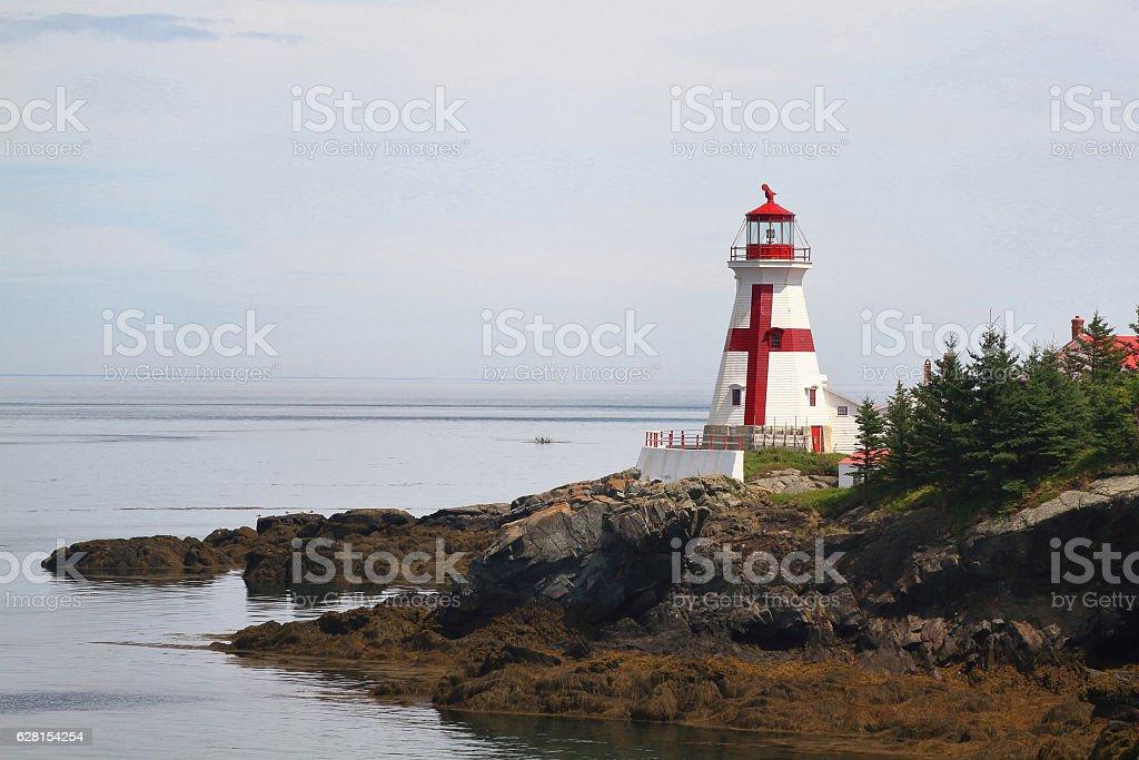 Head Habour Lightstation - Campobello Island New Brunswick Canad stock photo