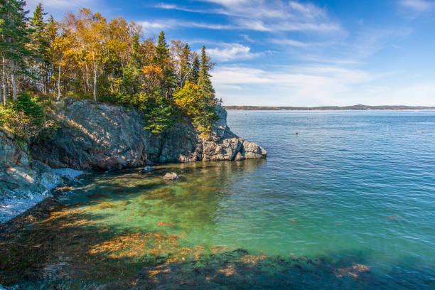 Head Harbour Lightstation Island - Canada stock photo