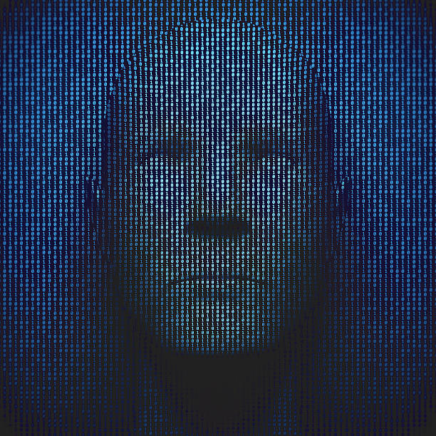 3D Head In Binary Code – Foto