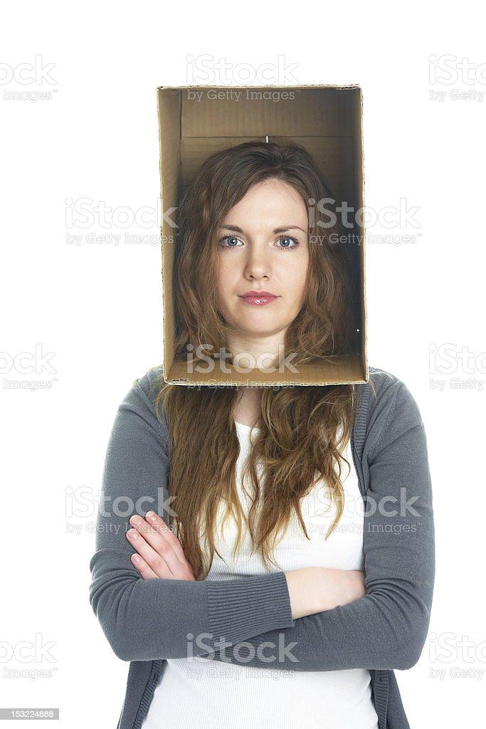 head in box royalty-free stock photo