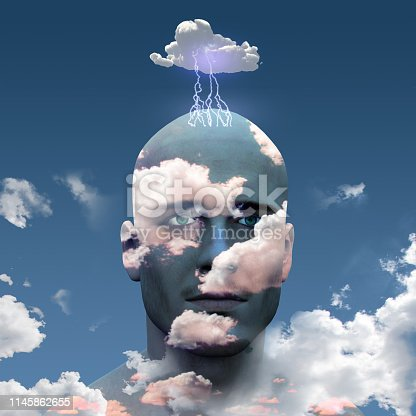 istock Head in Clouds 1145862655