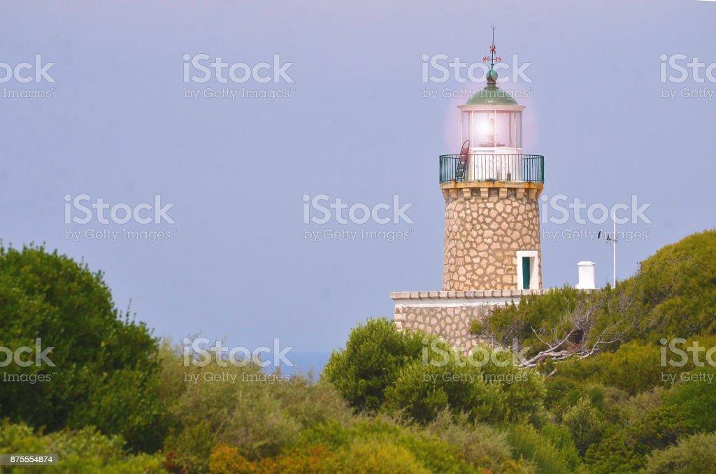 Head lighthouse stock photo