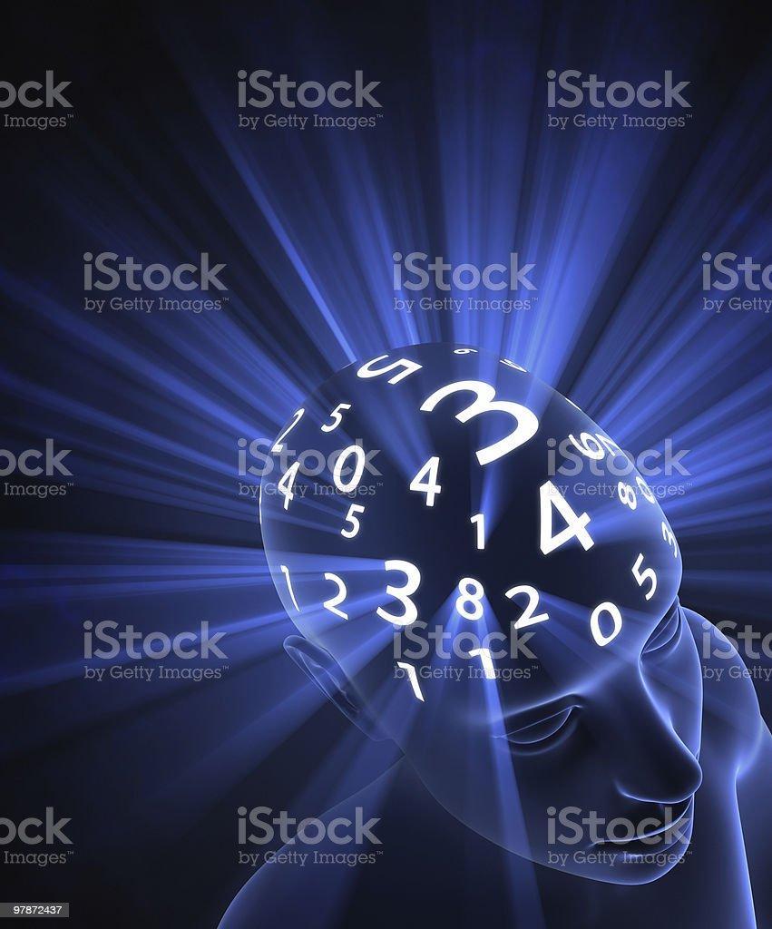 Head Numbers royalty-free stock photo