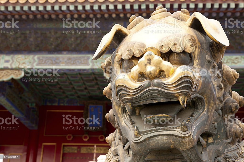 Head of a Chinese Dragon Statue royalty-free stock photo