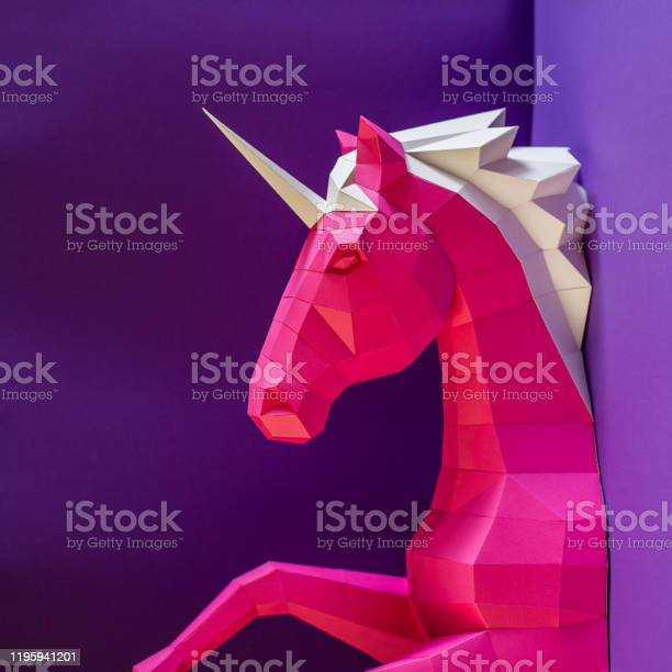Head of a unicorn of paper on a pink and blue background picture id1195941201?b=1&k=6&m=1195941201&s=612x612&h=ab0ylid 41cv5yxs7k w11sw6 h006ebhbvzykovx i=