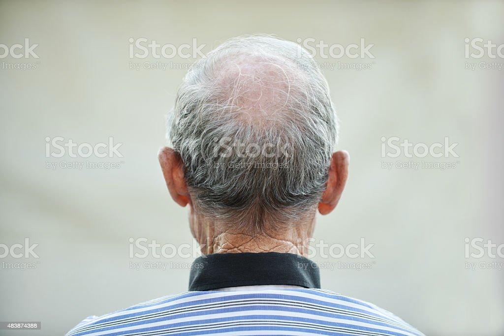 Head of an elder man stock photo