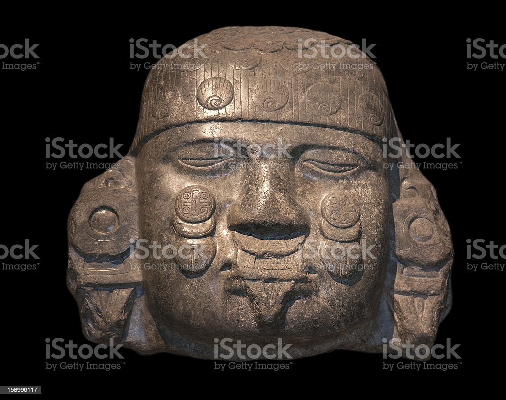 Head of Coyolxauhqui stock photo