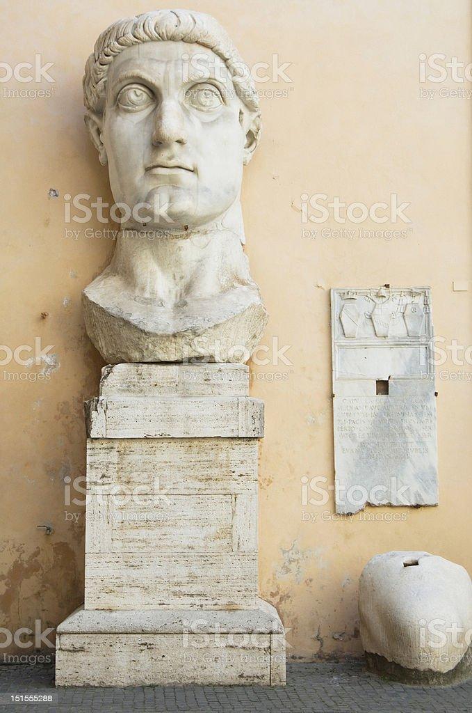Head of Emperor Constantine statue Rome royalty-free stock photo