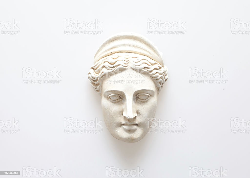 Head of Hera sculpture stock photo