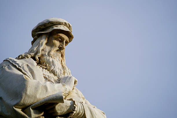 head of leonardo da vinci - renaissance stock pictures, royalty-free photos & images