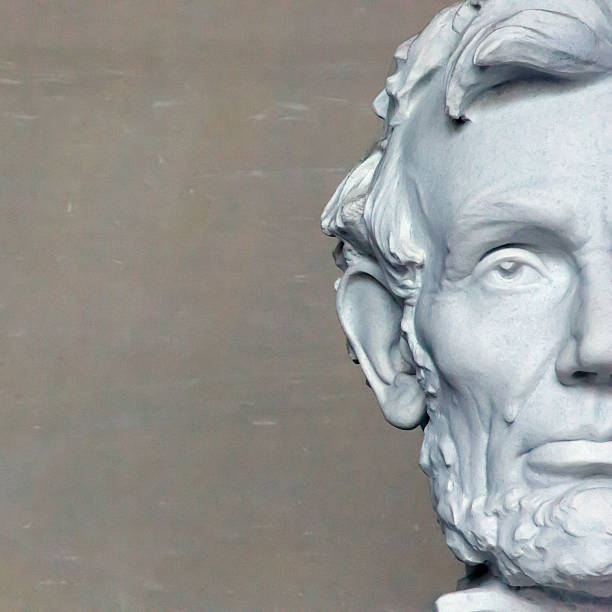 Jefe de Lincoln en Washington, composición cuadrada - foto de stock