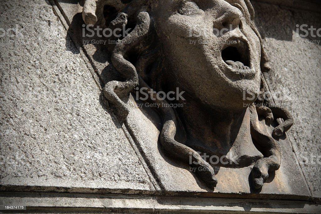Head of Medusa stock photo