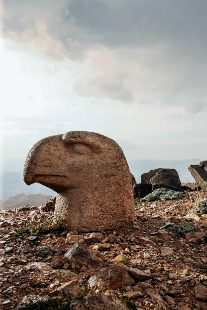 Head of Persian Eagle ,Mount Nemrut,Adiyaman-Turkey stock photo