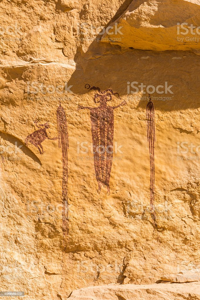Head of Sinbad Pictograph Panel stock photo