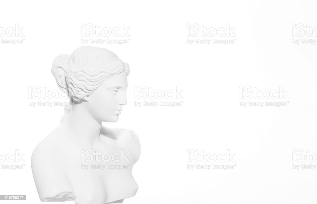 Head of Venus sculpture stock photo