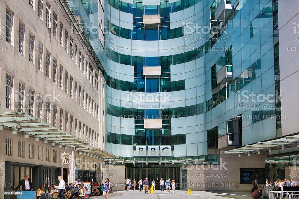 BBC head office, London stock photo