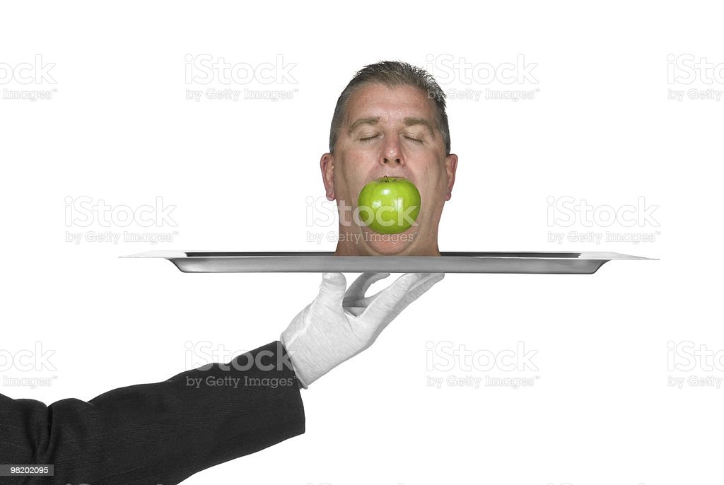 Head on a platter royalty-free stock photo
