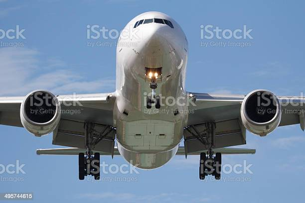 Head On Airplane Stock Photo - Download Image Now