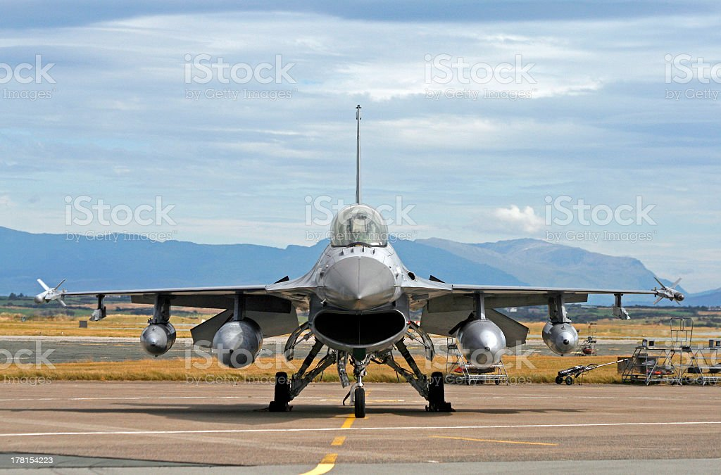 General dynamics F-16 Falcon - foto de stock