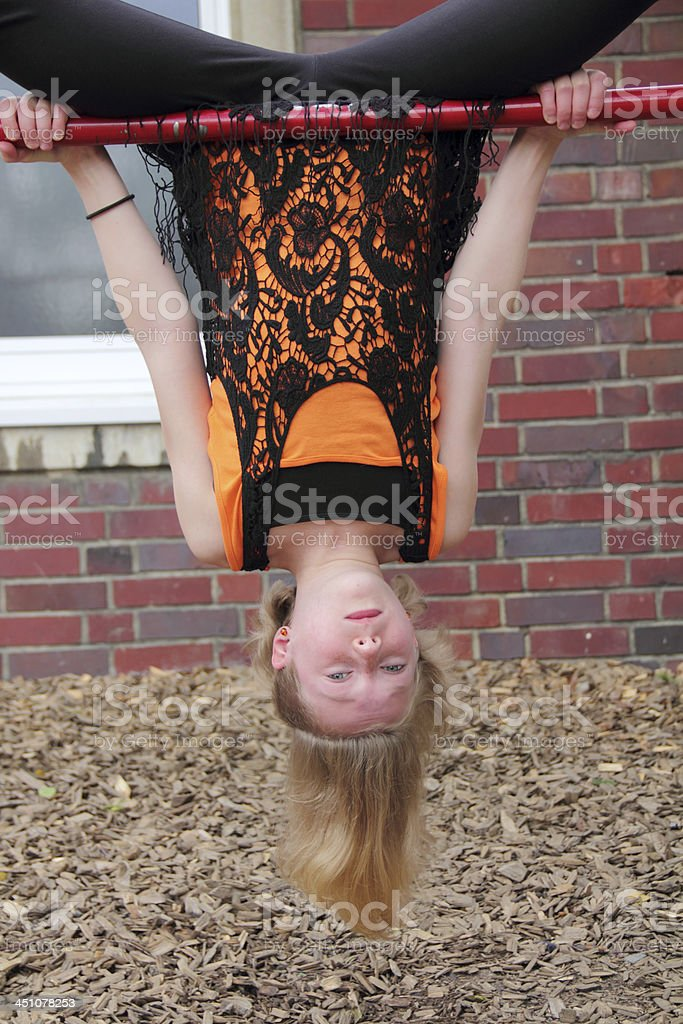 head over heels stock photo