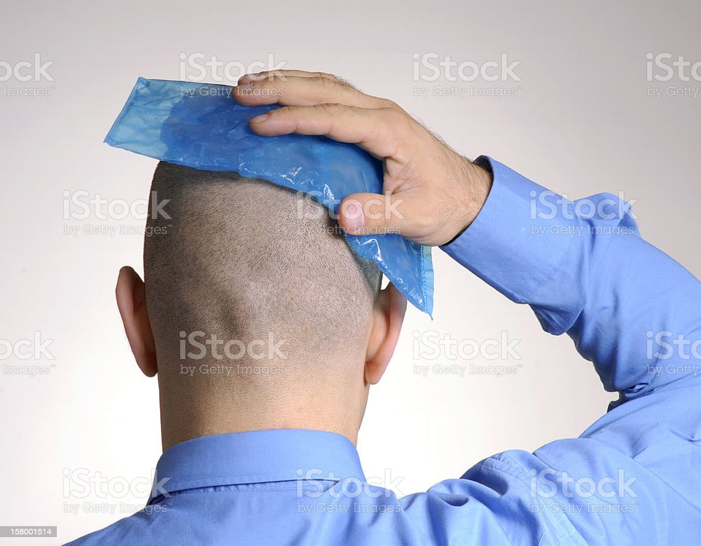 Head pain. royalty-free stock photo